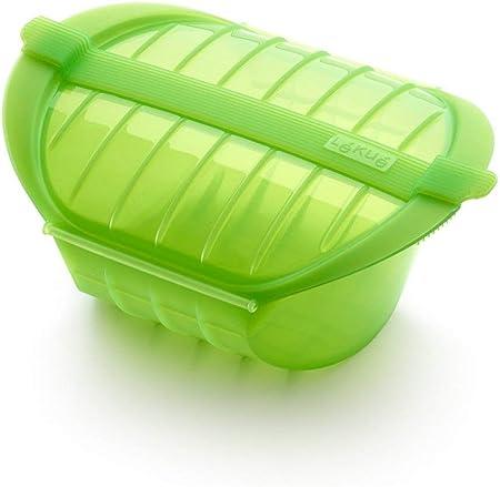 Lékué Ogya 1-2 verde Estuche Vapor, silicona platino, Personas: Amazon.es: Hogar