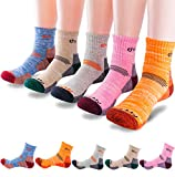 5Pack of Women's Multi Performance Mid Cushion Outdoor Hiking Ankle Socks | Athletic, Running, Travel | Moisture Wicking | Year Round