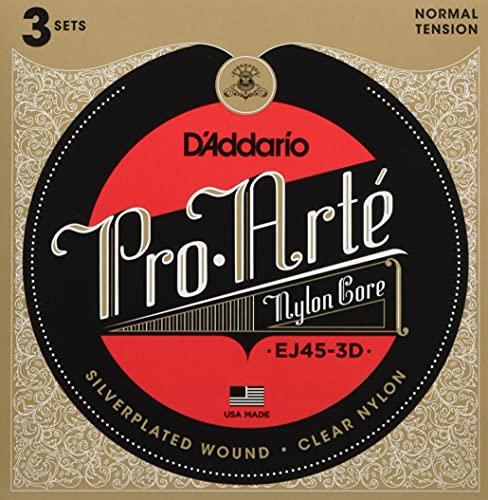 DAddario EJ45-3D Pro-Arte Cuerdas de nailon guitarra clasic