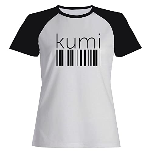 Idakoos Kumi barcode - Città del Mondo - Maglietta Raglan Donna
