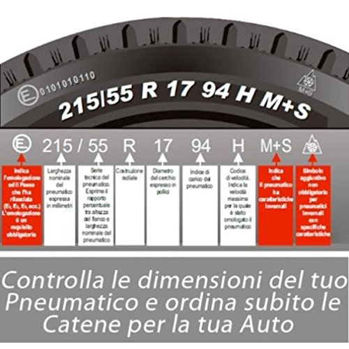 Utilitaires Convient pour 4X4 Fourgons Bottari 68003 Master Chaines /à neige 16 mm Camping-Cars SUV Taille 225