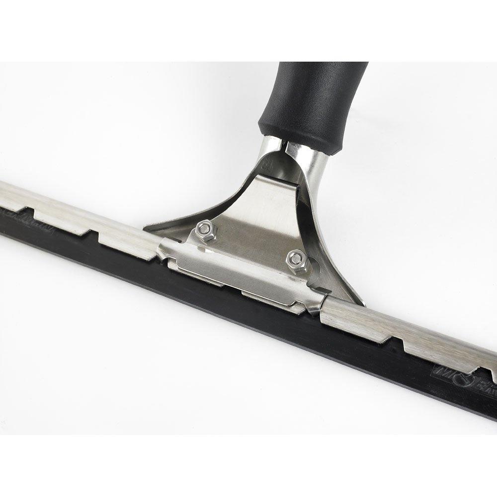 Moerman 21055 12 Pro Stainless Steel Window Squeegee With 2 Component Anti-Slip Comfort Grip Dura-Flex Rubber Blade