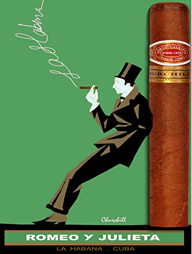 Quality poster in Paper or Canvas.Cuban cigar Romeo y Julieta churchill ()