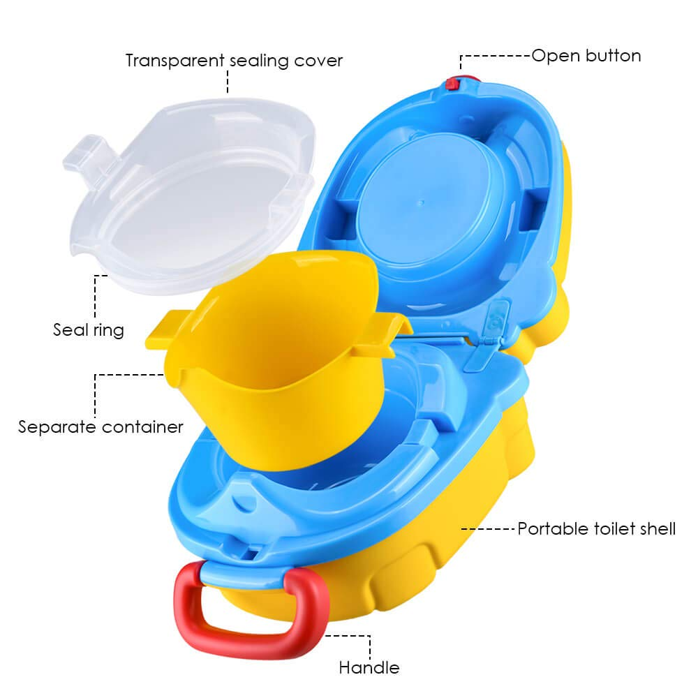 Portable Travel Potty Seat for Boys and Girls Safety\'s BeCute Potty Perfect for Camping Car Travel (Yellow) 61eNfCUQrLL