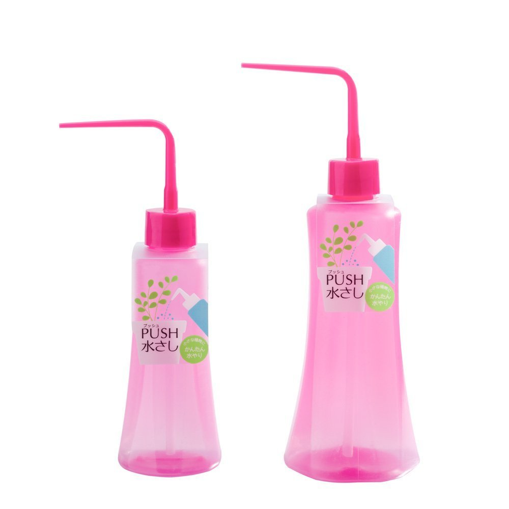 Mkouo 2Pcs 250ml/500ml Squeeze Bottle Succulents Plant Watering Bottle with Long Curved Nozzle, Green