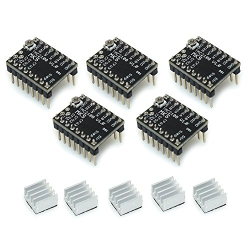 Witbot StepStick MKS TMC2100 stepper motor driver Ultra-silent With Heatsink for 3D Printer(Pack of 5pcs) (Silent Motor)