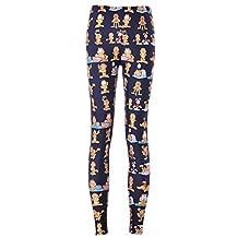 Lady Queen Women's Basic Garfield Print Stretch Skinny Leggings Pants