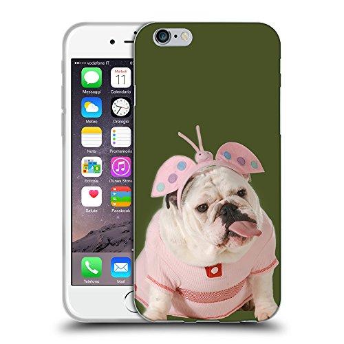GoGoMobile Coque de Protection TPU Silicone Case pour // Q05800605 Bulldog anglais Army Green // Apple iPhone 7