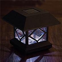 Zehui Outdoor Garden Solar LED Post Deck Cap Auto Sensor Fence Light Landscape Lamp Solar Fence Post Cap Lights White Light