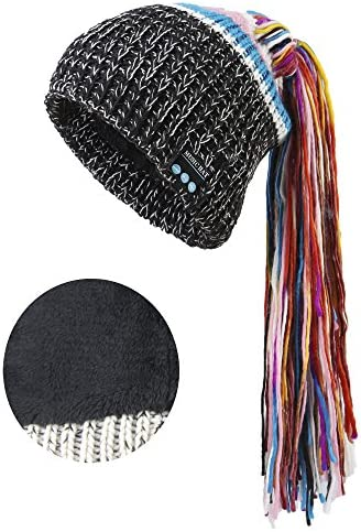 Onedayshop Wirelesss Music Hat Warm Beanie Hat Built-in Stereo Speaker Hands Free Call Answer Hat Black 4