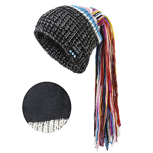 Onedayshop Wirelesss Music Hat Warm Beanie Hat Built-in Stereo Speaker Hands Free Call Answer Hat (Black 4)
