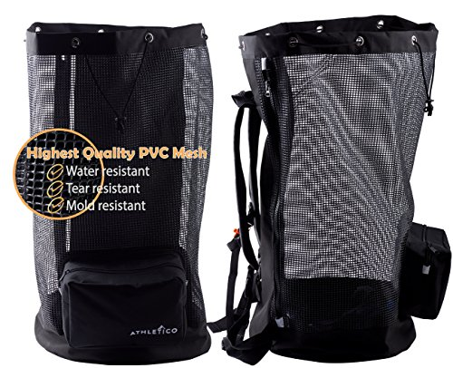 Athletico Scuba Diving Bag - Mesh Travel Backpack for Scuba Diving and Snorkeling Gear & Equipment - Dry Bag Holds Mask, Fins, Snorkel, and More Photo #2