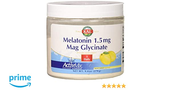 Amazon.com: KAL 1.5 Mg Melatonin Mag Glycinate Capsules, 9.8 Ounce: Health & Personal Care