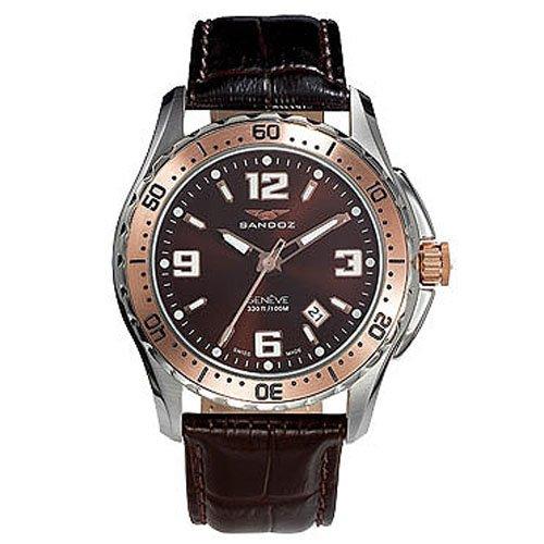 Reloj analógico y acero Sandoz 81331-94 color marron hombre: Amazon.es: Relojes