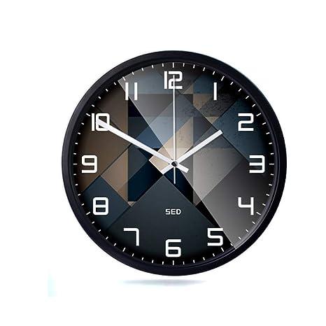 QXbecky Reloj de Pared silencioso, Sala de Estar, Dormitorio ...