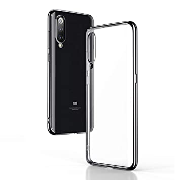 SINO Funda Xiaomi Mi 9, Carcasa para Xiaomi Mi 9 Móvil en Transparente TPU de Silicona Parachoques de galvanoplastia con estil Flexible Antichoque ...