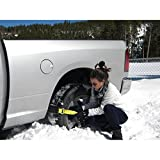 Car Snow Chain Non-slip Antiskid Anti-skidding in Winter,The ''Get Unstuck'' Traction Solution Pit Swamp for Trucks SUV Sedan Hatchback (4 PCS)