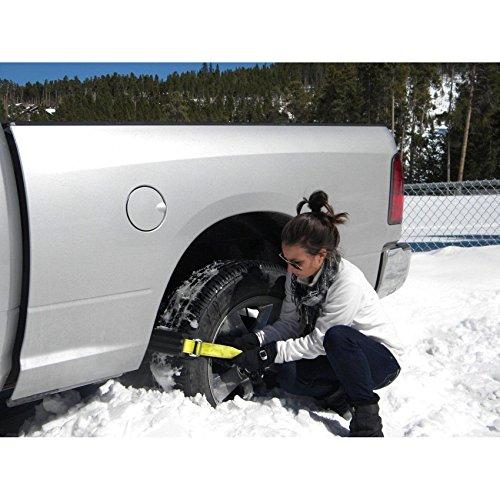Car Snow Chain Non-slip Antiskid Anti-skidding in Winter,The ''Get Unstuck'' Traction Solution Pit Swamp for Trucks SUV Sedan Hatchback (4 PCS) by HomDSim
