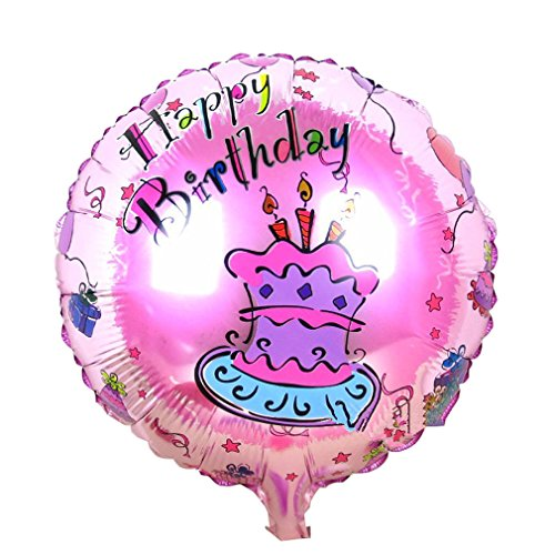 [Happy Birthday Foil Balloons Children Inflatable Toys Helium Balloon Party Decoration (Pink)] (Dance Central Character Costumes)