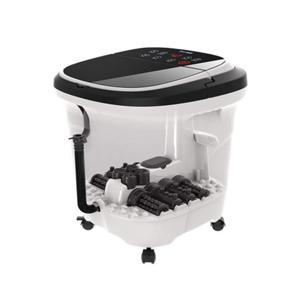 フットバスマッサージャー、フットスパーマシンフィート浸漬浴槽特徴振動、温泉付きスパローラーマッサージモード B07T2HFGVC