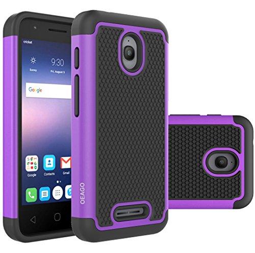 Alcatel Dawn Case, Alcatel Streak Case, Alcatel Ideal Case, OEAGO [Shockproof] Hybrid Dual Layer Defender Protective Case Cover for Alcatel Dawn / Acquire Streak / Ideal 4G - Purple