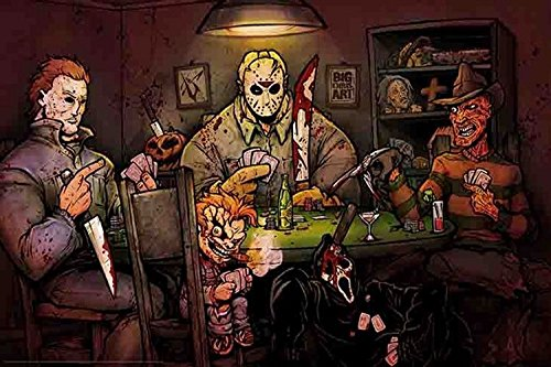 Slashers Playing Poker 24x36 Poster