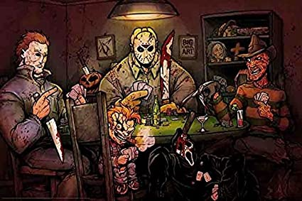 Horror movie characters playing poker gamble online free