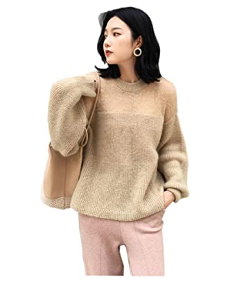 c6b871da181 ADLISA Sweaters Ladies Tops Fashion Long Sleeve Balloon Sleeve Watermark  Sexy Loose Pullover Body Cover Soft