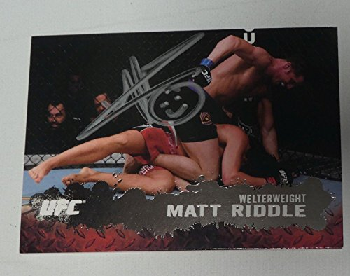 Matt Riddle Signed UFC 2009 Topps Silver Card #52 Autograph # 67/188 101 149 111 - Autographed UFC Cards