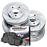 Power Sport Full Kit PowerSport Slotted Brake Rotors Disc...