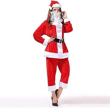 SDLRYF Disfraz De Papá Noel Traje De Navidad Santa Claus Ropa De ...