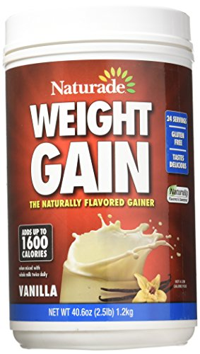 Weight Gain No Sugar Added 40.60 Ounces Vanilla by Naturade