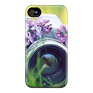 New Shockproof Protection Case Cover For Iphone 4/4s/ Camera W/flowers Case Cover