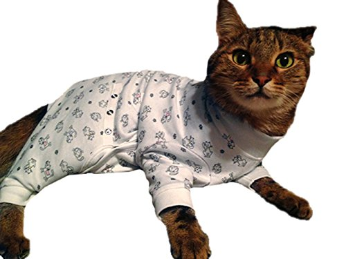 Cat Cover Me by Tui Adjustable Fit E-Collar Alternative for Cat's Long Sleeve, Large (Adjustable Cat Cone compare prices)
