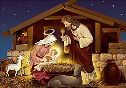 amazon com mary lays jesus in manger designer greetings box of