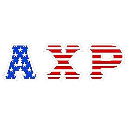 Amazon Alpha Chi Rho American Flag Greek Letter Sticker
