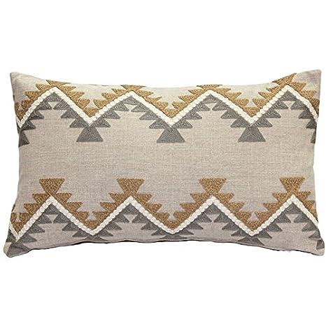 Amazon.com: Almohada decorativa – Tulum Rancho bordado manta ...