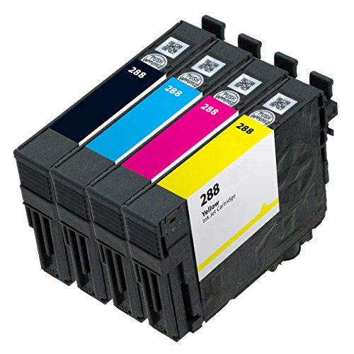 OCP Remanufactured OCP-288 Ink Cartridge Replacement for Expression XP-430 XP-434 XP-330 XP-446 XP-340 XP-440 Printers (1 Black 1 Cyan 1 Magenta 1 Yellow)