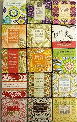Greenwich Bay 15 Luxury Soap Sampler (15 Scent Scentsational Mix)