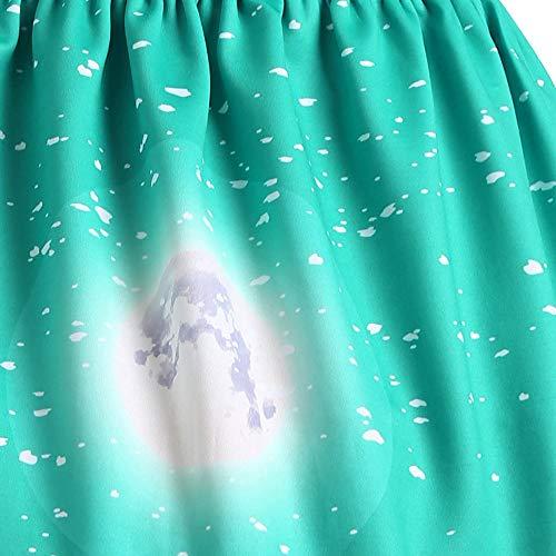 l Neige Robe l de Women Imprim Femme Jupe Soire No Tutu No Pre Fte l Robe Bonhomme de Femme Piebo no Jupe 3D Wapiti de Vert Taille Robe Robe Courte Fille de Haute Courte Cocktail Arbre Jupe trapze nZHFHdSX