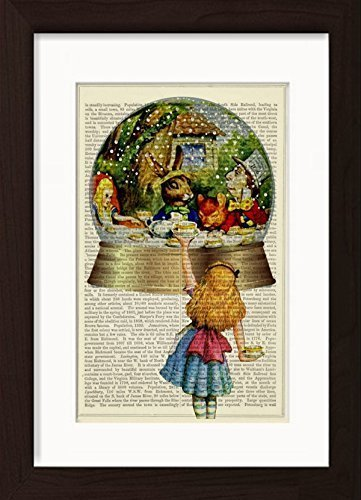 Amazoncom Alice In Wonderland Snow Globe Tea Party Ready To Frame