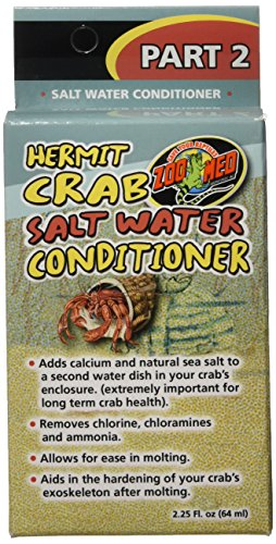 Zoo Hermit Crab (Zoo Med Hermit Crab Salt Water Conditioner, 2.25-Ounce)