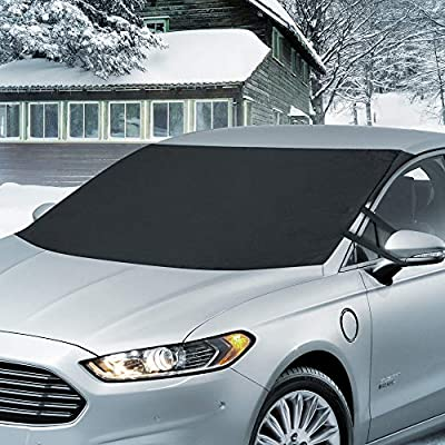 BDK Windshield Cover for Ice and Snow – Waterproof Magnetic Frost Guard for Winter, Freeze Protector for Auto Truck Van and SUV: Automotive