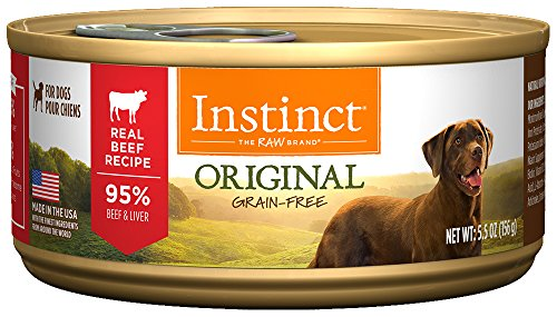 Instinct Original Grain Free Real Beef Recipe Natural Wet Canned Dog Food by Nature's Variety, 5.5 oz. Cans (Case of 12)