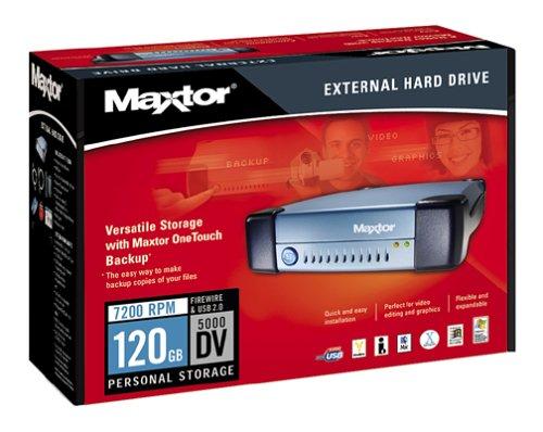 (Maxtor T01J120 5000DV External Personal Storage Hard Drive)