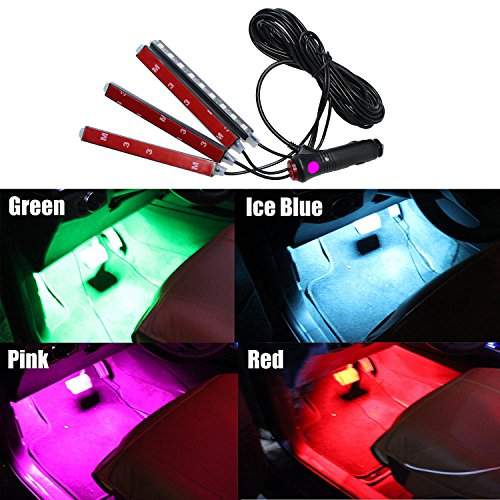 pink led car accessories - 7