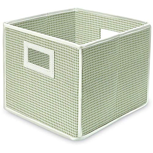 Badger Basket Folding Sage Gingham Storage Cubes (Pack of 3)