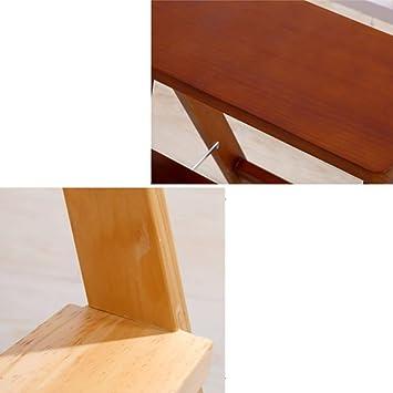 hmjv Escalera-estante-soporte Taburete Peldaño Taburete de madera Escalera para adultos Cocina Escalera plegable de madera maciza Escalera plegable portátil Taburete pequeño Banco multifunción,Nogal: Amazon.es: Bricolaje y herramientas
