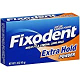 Fixodent Denture Adhesive Powder Extra Hold 1.60 oz (Pack of 6)