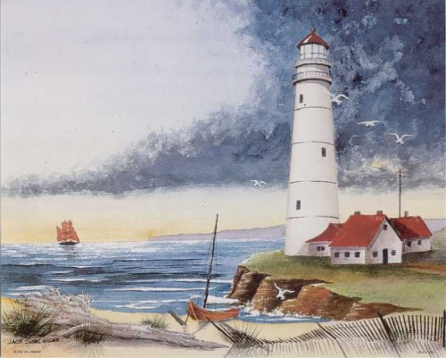 Lighthouse on the Bay 3D Decoupage - Paper Tole Craft Kit Decoupage Supply Centre Inc. K96030-70